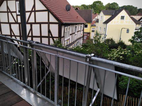 Klassisch am Balkon