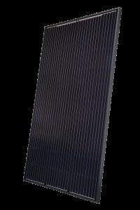 schwarzes Photovoltaik-Modul von Heckert Solar